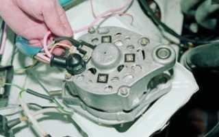 Схема подключения генератора ваз 2106: как снять и разобрать устройство