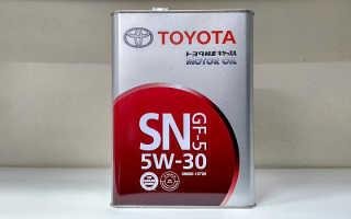Обзор моторного масла марки toyota motor oil 5w-30 sn: фото и видео
