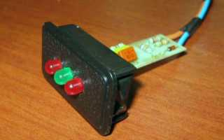 Звуковой автомобильный индикатор напряжения на светодиодах своими руками
