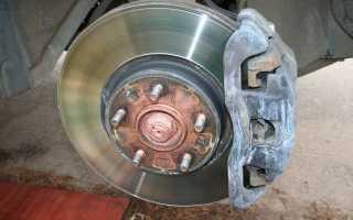Снятие и замена тормозных дисков mazda 3